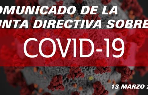 Comunicado COVID-19 de 13 de marzo a los Asociados