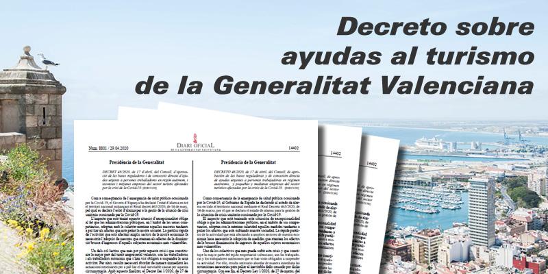 Decreto de la Generalitat Valenciana sobre ayudas al sector turístico