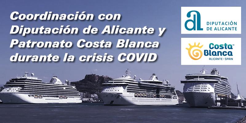 Reuniones de coordinación con la Diputación de Alicante y el Patronato Costa Blanca durante la crisis COVID